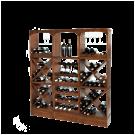 Einfach 9 Regale auf 3 Sockeln stapeln: Dieser Aufbau bietet Platz für 150 Flaschen