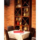 Das Weinregalsystem Kabinett kann in jedem Restaurant kreativ eingesetzt werden