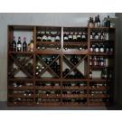 Viele Weinliebhaber besitzen mehrere Hundert Flaschen. In diesem Regal kann man die gesamte Menge bequem unterbringen.