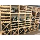 Für mehr oder weniger Flaschen :  Mit den Holzregalen von Domus Naturalis können Sie ein praktisches und schönes Regal für Ihren Weinvorrat anfertigen