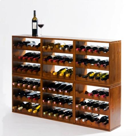 Kabinett: ein flexibeles Weinlagerungs System aus Holz